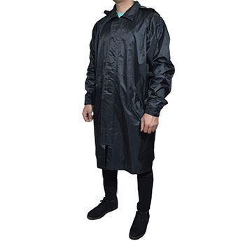 بارانی کار، کلاه دار، قد زیر زانو پارچه شمعی پشت لاستیک، ضد نفوذ آب ،فری سایز