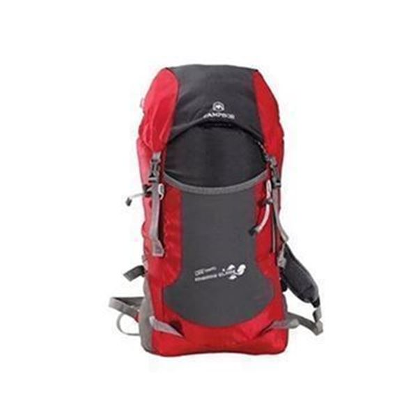 کوله پشتی قرمز کوهنوردی، بزرگ و جادار