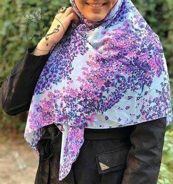 روسري حرير قواره 120، نخی (لیز نیست)