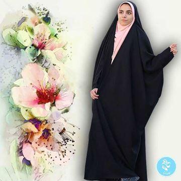 چادر بحرینی مشکی مات از جنس حریرالاسود