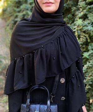 روسری-چین-دار
