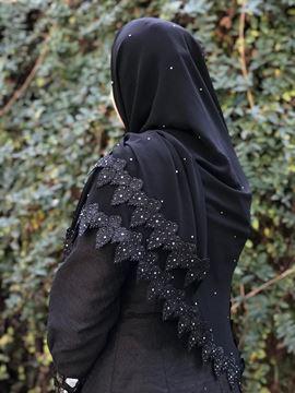 روسری حاشیه گیپور