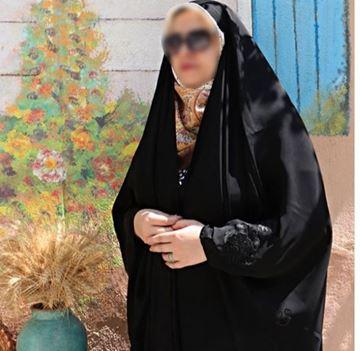 تصویر از چادر عبا کن کن ندا گلدوزی
