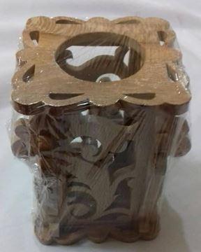 جای خودکارومداد مشبک چوب چنار ارتفاع 10 سانت، بسیار شیک و کاربردی، مناسب تزیین میز اداری، قیمت مناسب و ارسال رایگان