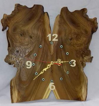 ساعت دیواری چوب جوش سنجد33در33سانت، کار دست، خاص و زیبا، قیمت مناسب و بی واسطه و ارسال رایگان